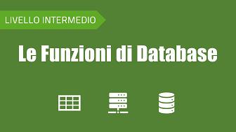 Corso sulle funzioni di database